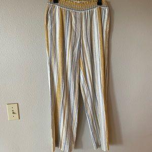 Multi striped flowy pants